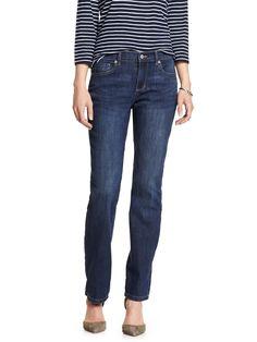 6060 Banana Republic Womens Medium Blue Wash Straight Leg Jeans Sz 27 / 4 $70
