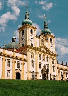 """The church of Visitation of Holy Virgin Mary and buildings of a pilgrimage place """"Saint Hill"""" at Olomouc (North Moravia), Czechia"""