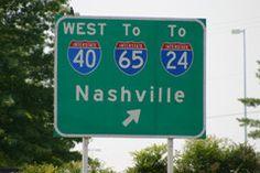 nashville interstate signs | Nashville Interstate Road Sign
