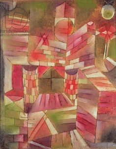 Paul Klee - Architecture at the Window, 1919 (oil on panel)