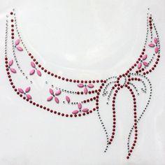 Rhinestone Hot fix Motif crystal Fashion Design Dress neckline Ribbon deco yh758 in Casa, arredamento e bricolage, Hobby creativi, Cucito, tessuti e merceria   eBay