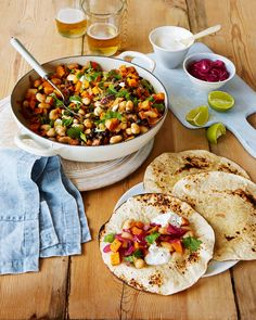 Take your veggie Mexican night to new heights with these smoky bean and sweet potato tortillas. They're wonderfully warming and spicy with a citrus kick from the lime-pickled onions.