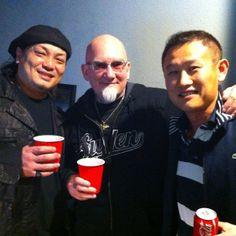Mithra's Rick Li with Jess Yen and Bob Tyrrell.
