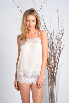 aaf08f1985df9f Samantha Chang Honeymoon Cami and Tap Short via Journelle - a great  investment piece as the cami can be worn as outerwear after the wedding!