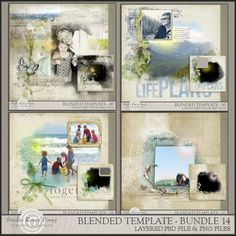 Studio Rosey Posey has a new set of Blended Templates this weekend!  Everything is on its own layer so you can customize the layouts to suit your photos!