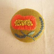 手刺繍ブローチ 『花』の画像