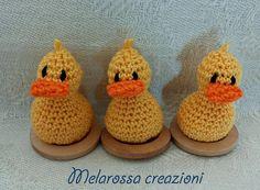 Paperella gialla in miniatura OOAK pupazzo di MelarossaCreazioni