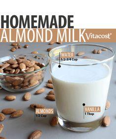 Homemade Almond Milk via @Vitacost.com.com.com.com #Fitfluential #EAT #DIY