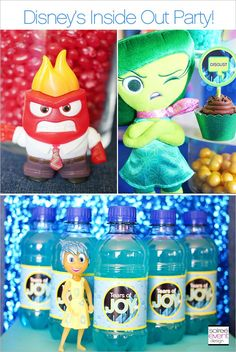 Disney's Inside Out Party Ideas #InsideOutEmotions #ad | re-pinned by http://www.wfpblogs.com/category/rachels-blog/