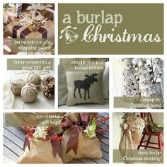 decorating with burlap christmas | Ideas for decorating with #burlap this #Christmas! | Merry Christmas
