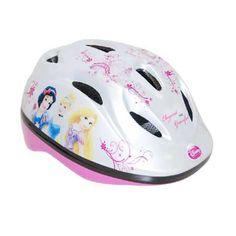 Disney Princess fiets/skatehelm - wit  Stoere prinsesjes skaten en fietsen veilig met deze mooie helm met Disney Princess print. De helm is verstelbaar met de draaiknop van maat 51 tot 55 en kan dus langere tijd worden gebruikt. De onderkant van de helm is ook bedekt.  EUR 14.99  Meer informatie