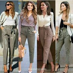 Bow pants and high waisted pants styling ideas – Just Trendy Girls Source by outfits for women Summer Work Outfits, Casual Work Outfits, Business Casual Outfits, Professional Outfits, Mode Outfits, Fall Outfits, Outfit Work, Fashion Pants, Fashion Outfits