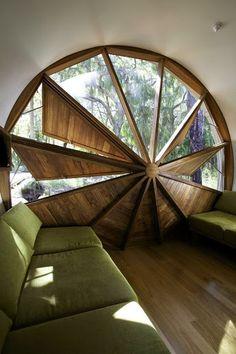 Window shutters for round window. WOW!
