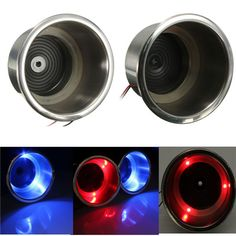 12V LED Marine Boat Yacht Car Camper Stainless Steel Cup Drink Holder