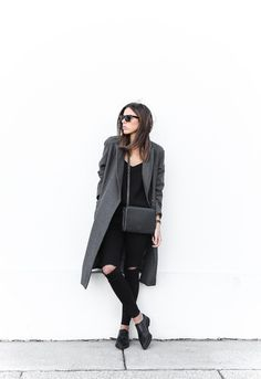 45 Outfits That'll Make You Want a Grey Winter Coat | StyleCaster