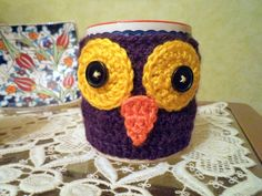 BECK to Vintage: Owl Mug Cozy..:))