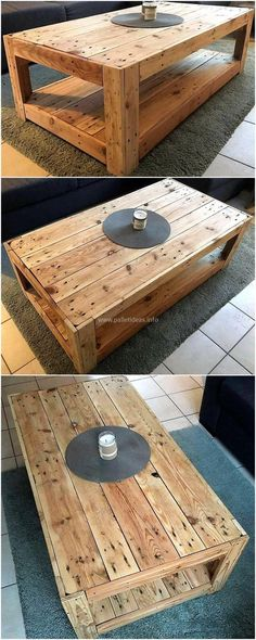 We are proudly offering another wonderful reused wood pallet coffee table for your lounge. The organic wood texture is letting the whole environment to breathe. We have kept this coffee table i Diy Pallet Projects, Wood Projects, Woodworking Projects, Upcycling Projects, Pallette Furniture, Cool Furniture, Outdoor Furniture, Furniture Outlet, Wooden Furniture