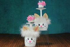Easter Crafts To Make, Quick Crafts, Glass Votive Candle Holders, Votive Candles, Unique Centerpieces, Bunny Face, Great Teacher Gifts, Easter Wreaths, Easter Bunny
