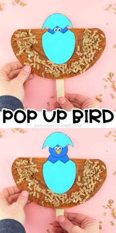 bird crafts for kids Easy pop up bird craft for toddlers, preschoolers and kids of all ages. Create your paper plate bird craft and then watch as the bird pops up and hatches out of its egg. Fun spring craft for kids and easy Easter craft for kids. Egg Crafts, Paper Plate Crafts, Easter Crafts For Kids, Spring Toddler Crafts, Summer Crafts, Spring Craft For Toddlers, Spring Crafts For Preschoolers, Arts And Crafts For Kids Toddlers, Craft Activities For Kids