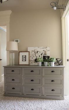 DIY Laundry Dresser- check it out! Could put this in our hallway and instantly have less clutter!