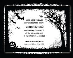 Printable Spooky Halloween Party Invitations