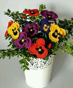 Mejores 59 Imagenes De Flores De Manualidades En Pinterest Yarns - Flores-ganchillo