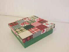 Caja en decoupage con tela  Decoupage box  Caixa em decoupage com tecido