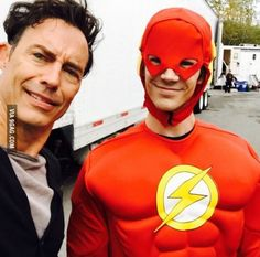 That moment when The Flash dresses up as The Flash for Halloween.