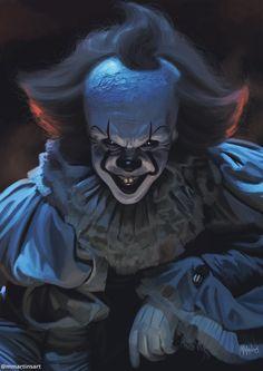 Pennywise (IT movie) by marpamartins on DeviantArt Freddy Krueger, Godzilla, Pennywise Tattoo, Joker Iphone Wallpaper, Creepy Clown, Creepy Stuff, Pennywise The Dancing Clown, Sweet Tattoos, Evil Clowns
