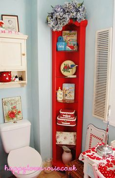 Corner Shelving FromHAPPY LOVES ROSIE Happys Bathroom Makeover Shelves