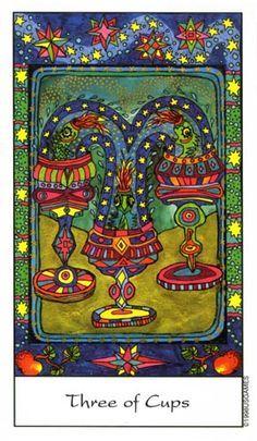 Resultado de imagem para Tarot of the Trance three cups