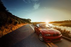Imola Red BMW E46 M3 on BBS CH Sunset, via Flickr.