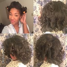 "Love the volume by @bighairbettyy ""Results from last night! Every night I'll add perm rods… Sometimes with serum sometimes without last night I didn't add any… Used about 6 perm rods. This morning I took down and combed through hair with fingers… #Hair2mesmerize #naturalhair #healthyhair #teamnatural #naturalhairjourney #naturalhairstyles #blackhairstyles #transitioning"