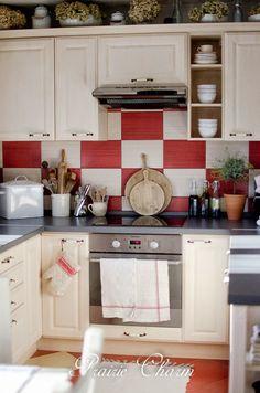 Kitchen Decoration Idea by Prairie Charm - Shutterfly French Kitchen, Red Kitchen, Kitchen Rug, Home Decor Kitchen, Home Kitchens, Kitchen Design, Kitchen Ideas, Modern Kitchen Renovation, Kitchen Remodel