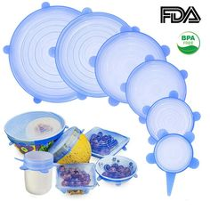 Save the earth and eliminate plastic wrap from reaching our oceans! With these reusable container lids, you'll never need plastic wraps for storing food again. Get your Zero-Waste Container Lids and eliminate daily plastic waste! Plastic Wrap, Plastic Waste, Tapas, Four Micro Onde, Plastic Sheets, Candy Jars, Reusable Bags, Zero Waste, Safe Food
