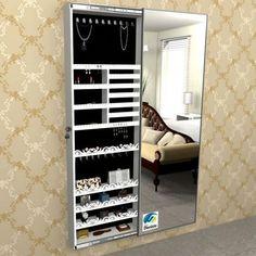 Ideas Mirror Jewelry Storage Diy Bedrooms For 2019 Mirror Jewelry Storage, Mirror Jewellery Cabinet, Jewellery Storage, Closet Bedroom, Bedroom Decor, Dressing Table Design, Jewelry Closet, Cute Room Decor, Luxury Closet