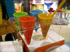 Andy Warhol re-usable ice cream cones @ Urban Outfitter; photo by beastandbean on flickr