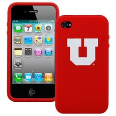 Utah Utes Red Silicone iPhone 4 Cover