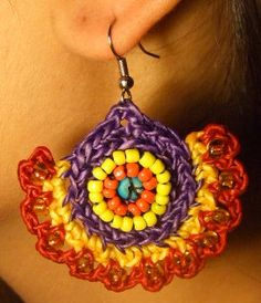 Festive Crochet Earrings $28.00