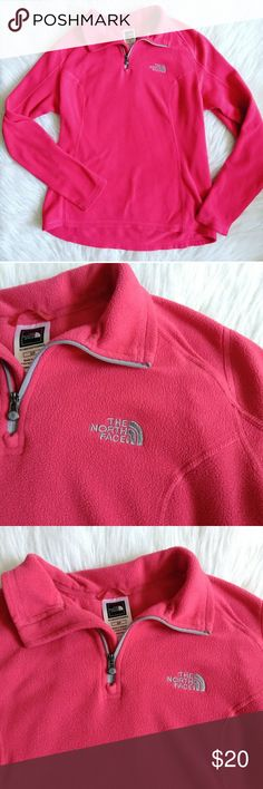 North Face Half Zip Fleece Pullover Northface half zip fleece pullover. In good condition,  some mild wash wear but plenty of life left! Please feel free to ask any questions you may have :) As always,  I ship within 24 hours! The North Face Tops Sweatshirts & Hoodies