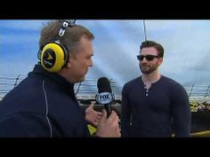 Chris Evans - Daytona 500 (Interview) FOX Sports - YouTube  I wonder how nervous he was...