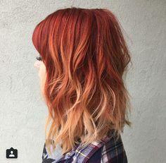 Fiery autumn hair