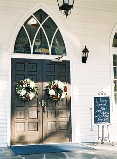 Love a Southern wedding? You'll adore Valerie & Bobby's fall bash with beautiful style and luxe decor by Erin McLean Events and Graham Terhune Photography. Floral Wedding, Fall Wedding, Dream Wedding, Trendy Wedding, Wedding Ideas, Wedding Flowers, Wedding Doors, Chapel Wedding, Wedding Card Quotes