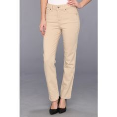 Miraclebody Jeans Sandra D. Ankle Jean (Pebble) Women's Jeans (2.375 RUB) ❤ liked on Polyvore featuring jeans, beige, flap-pocket jeans, zipper jeans, button pocket jeans, slim fit jeans and beige jeans