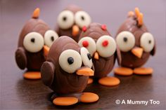 These Easter chocolate chicks won't win any awards for realism, but they are rather fun. Here's how to make them.