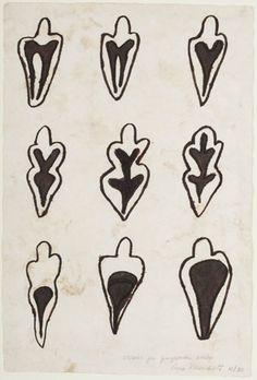Ana Mendieta - studies for gunpowder drawings