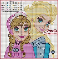 Princess Anna and Queen Elsa - Frozen pattern by Priscila Junqueira