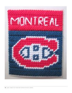 NHL MONTREAL CANADIENS 2/3 Plastic Canvas Coasters, Plastic Canvas Tissue Boxes, Plastic Canvas Crafts, Plastic Canvas Patterns, Plastic Craft, Football Canvas, Plastic Mesh, Photography Words, Box Patterns