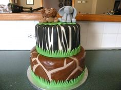 Jungle Themed Baby Shower Cake By tonyarb on CakeCentral.com