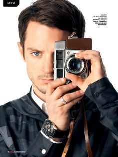 Elijah Wood with a camera - GQ Brasil by Antonio Branco, January 2013 (Celebrity Camera Club). #Photography #Photographer #Camera